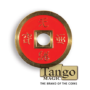 Dollar Size Chinese Coin, Red and Blue by Tango (CH039)